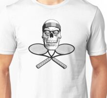 Tennis Skull and Rackets Unisex T-Shirt