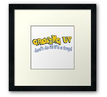 Growing Up (Pokémon Inspired) Framed Print