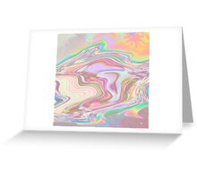 Coloured Marble Swirl Greeting Card