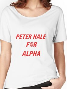 Peter Hale for Alpha (red text) Women's Relaxed Fit T-Shirt