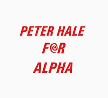 Peter Hale for Alpha (red text) Unisex T-Shirt