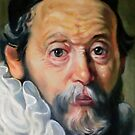 study head after Rembrandt by Hidemi Tada