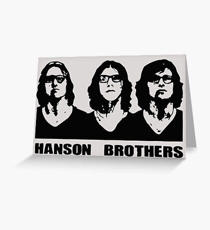 Hanson Brothers , Slap Shot Hockey Greeting Card