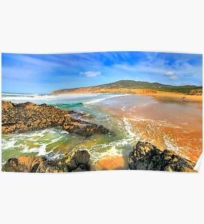 golden sand. praia do guincho Poster