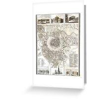 Plan of Vienna - 1844 Greeting Card