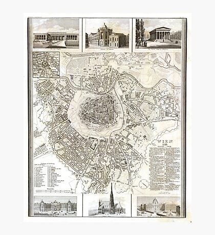 Plan of Vienna - 1844 Photographic Print