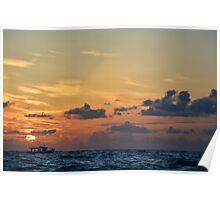 Sunset Lovers Poster