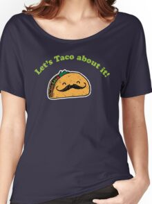 Taco - Let's taco about it! - Vintage Retro style Women's Relaxed Fit T-Shirt