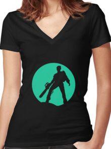 evil Women's Fitted V-Neck T-Shirt