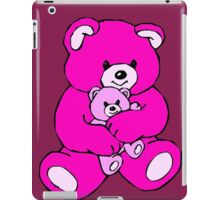 teddy bear hug pink iPad Case/Skin
