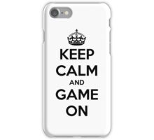 Keep calm and game on iPhone Case/Skin
