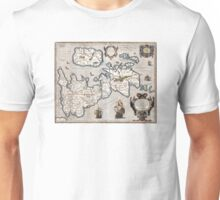 Map of The British Isles - Ortelius - 1595 Unisex T-Shirt