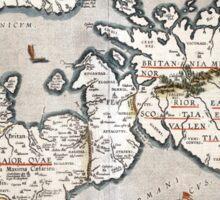 Map of The British Isles - Ortelius - 1595 Sticker