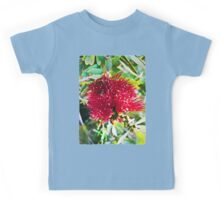 Light on a Red Flower 1 Kids Tee