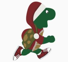 Santa Turtle Runner One Piece - Short Sleeve
