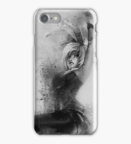 Battle Bunny Riven Black and White iPhone Case/Skin