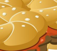 Glitch Food hearty groddle sammich Sticker