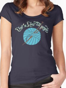 Knitting - I knit so I don't kill people Women's Fitted Scoop T-Shirt