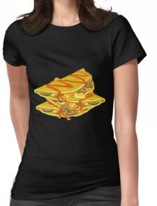 Glitch Food hearty omelet Womens Fitted T-Shirt