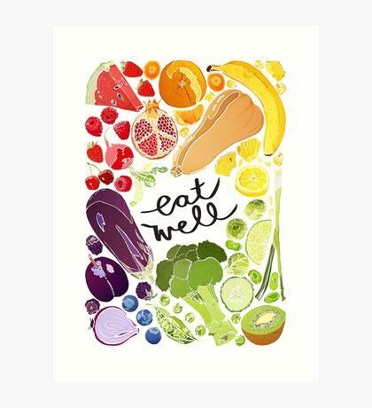 Eat Well - Fruit n Veg Art Print