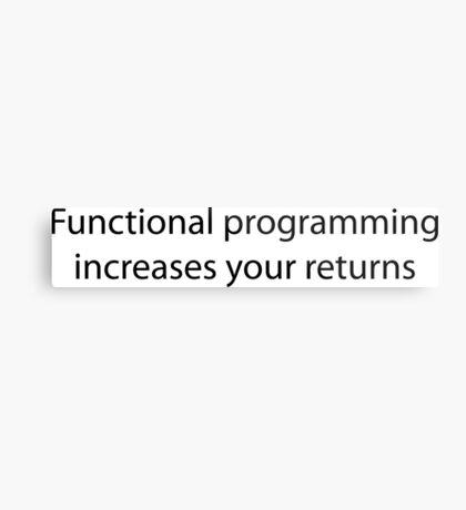 Functional Programming = :) Metal Print