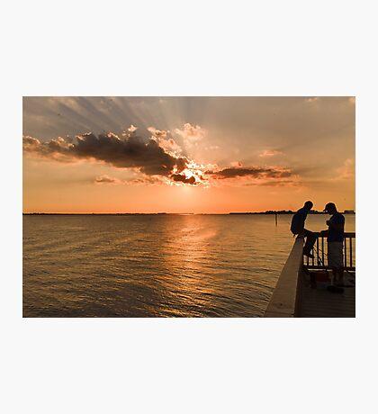 Fishing at Sunset Photographic Print