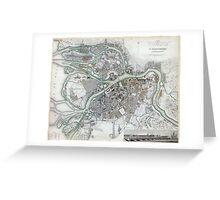 Plan of St Petersburg - Russia - 1834 Greeting Card