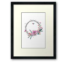 Ring of Flowers Framed Print