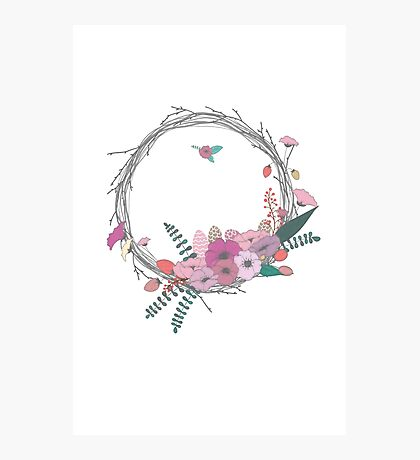 Ring of Flowers Photographic Print