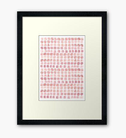 Pink blocks Framed Print