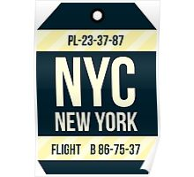 New York Trip Tag Poster