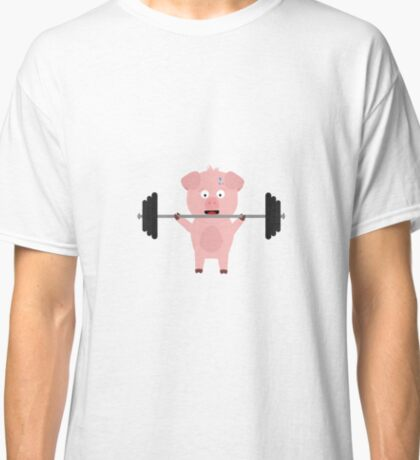 Fitness Pig with Weights Classic T-Shirt