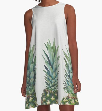 Pineapple Trio A-Line Dress