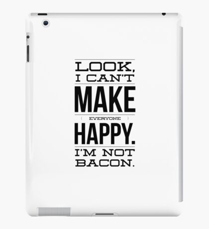 I'm not bacon iPad Case/Skin