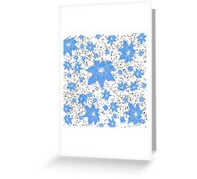 Blue Flower Pattern Greeting Card