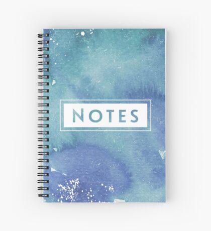 Watercolor Splash Note Book Spiral Notebook