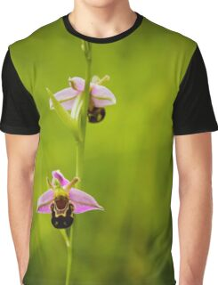 Bee Orchid Graphic T-Shirt