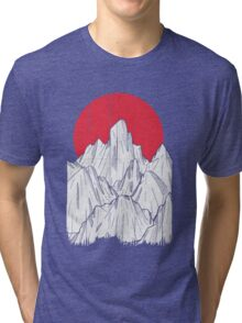 The red sun and the mountain Tri-blend T-Shirt