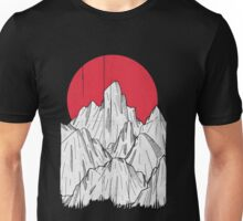 The red sun and the mountain Unisex T-Shirt
