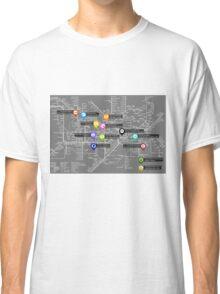 Sherlock Tube Map (Dark) Classic T-Shirt
