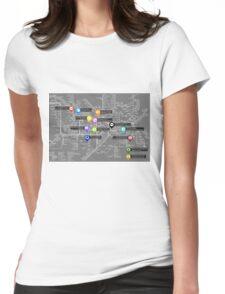 Sherlock Tube Map (Dark) Womens Fitted T-Shirt