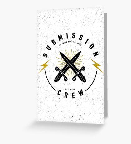 Jiu-jitsu. Submission crew. Greeting Card