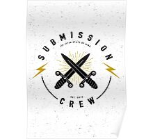 Jiu-jitsu. Submission crew. Poster