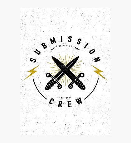 Jiu-jitsu. Submission crew. Photographic Print