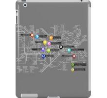 Sherlock Tube Map (Dark) iPad Case/Skin