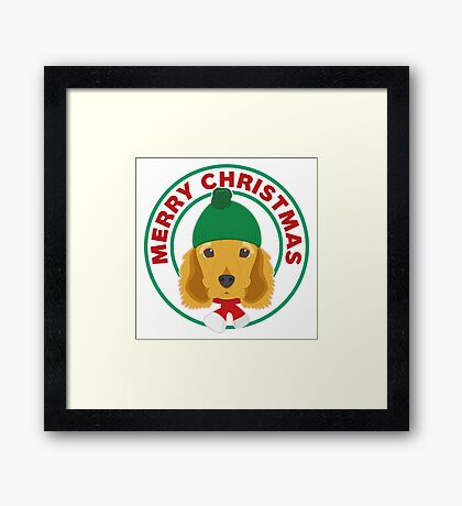 Merry Christmas Cocker Spaniel Framed Print
