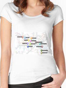 Sherlock Tube Map Women's Fitted Scoop T-Shirt
