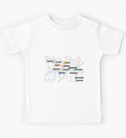 Sherlock Tube Map Kids Tee