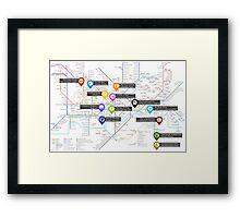 Sherlock Tube Map Framed Print