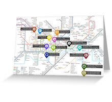 Sherlock Tube Map Greeting Card